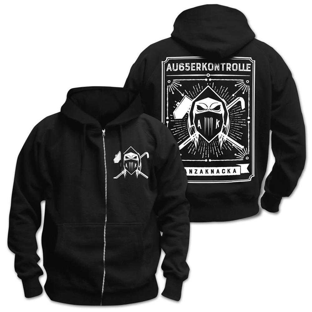 AK Ausserkontrolle Kapuzenjacke Kapuzenjacke, schwarz