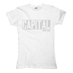 Capital Bra Logo Girlie weiß