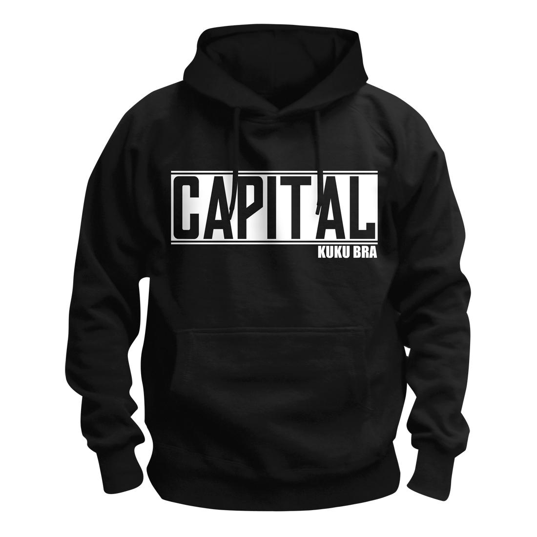 Capital Bra Logo Kapuzenpullover, schwarz