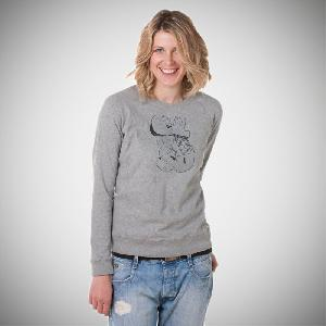 Clueso Bitmaps Girls Sweater grau