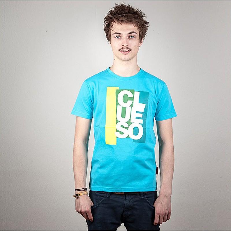 Clueso Block T-Shirt, blau