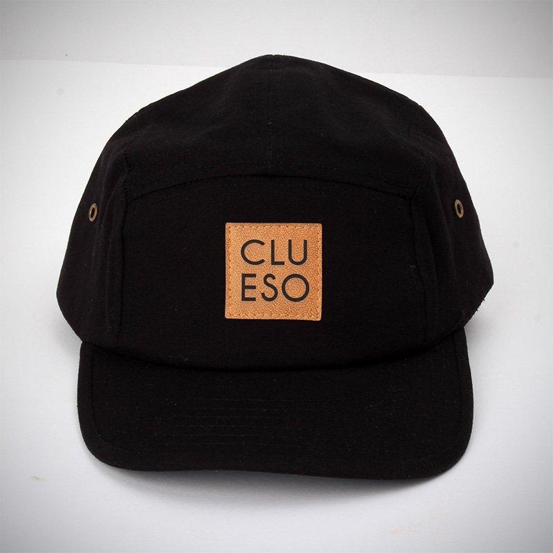 Clueso Snapback mit Logopatch Snapback, schwarz