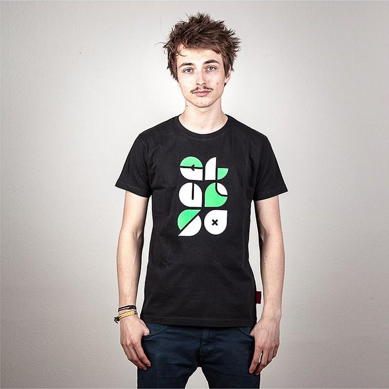 Clueso Typo T-Shirt, schwarz