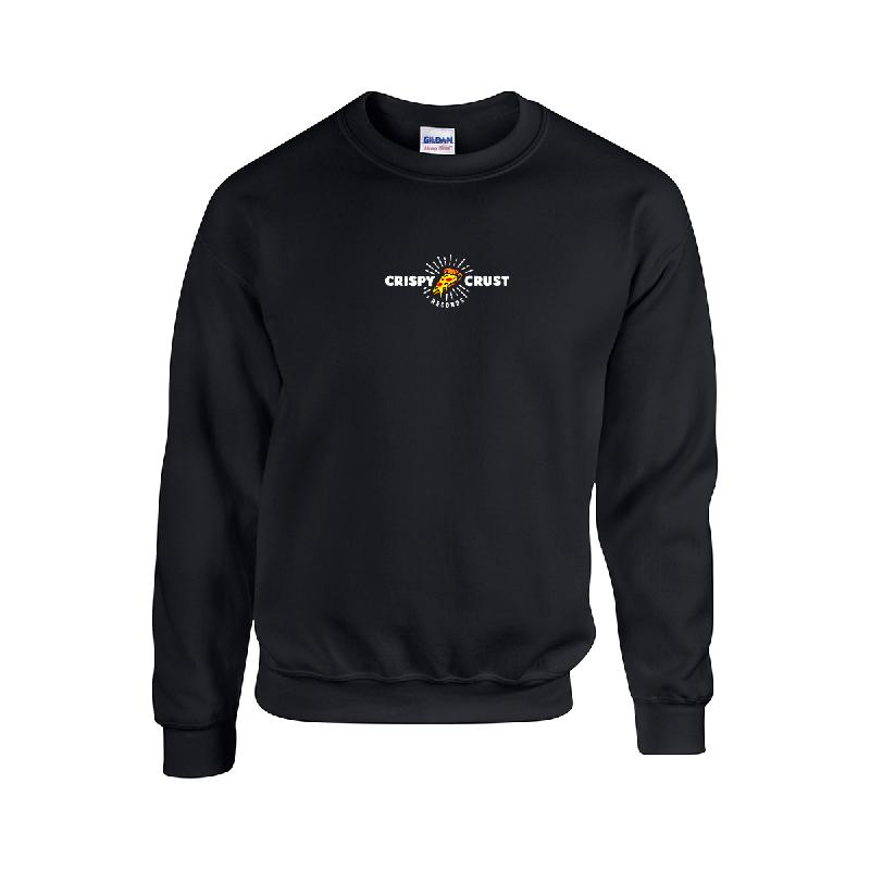 Crispy Crust Records Horizontal Sweatshirt Sweater Black