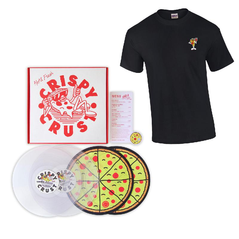 Crispy Crust Records Limited CCR x Serato Vinyl + Shirt Bundle Premiumbox