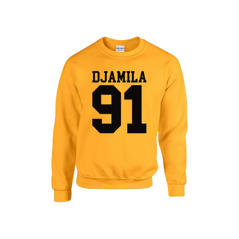 Djamila 91 Sweater Sweater, Yellow/Black