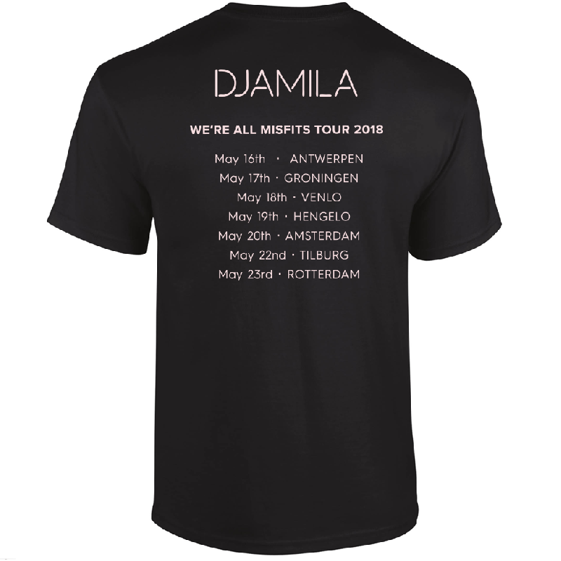 Djamila Tour 2018 T-Shirt Black