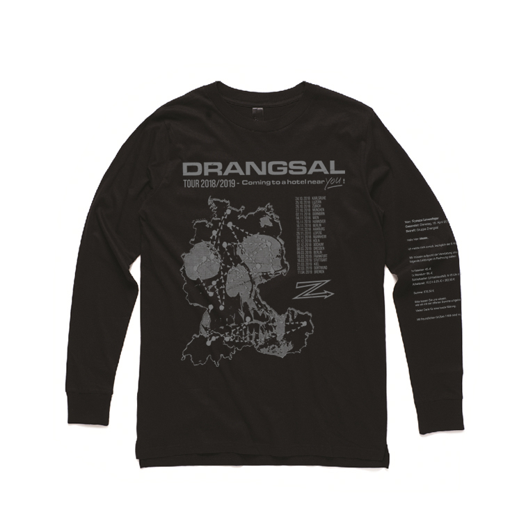 Drangsal Ltd. Hotel - SOLD OUT Longsleeve, Silver/Black