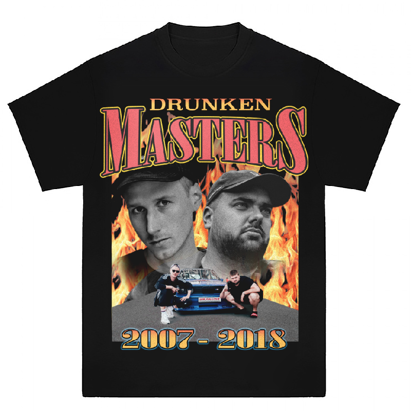 Drunken Masters Band T-Shirt, Black