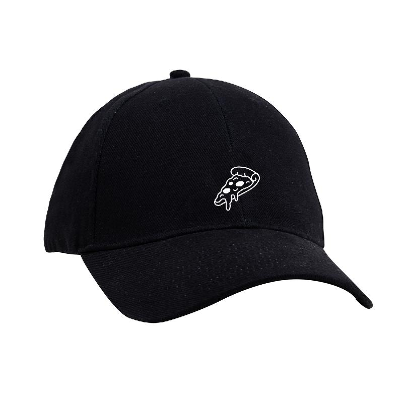 Drunken Masters CRISPY CRUST DAD HAT - PIZZA Cap One Size Fits All, black
