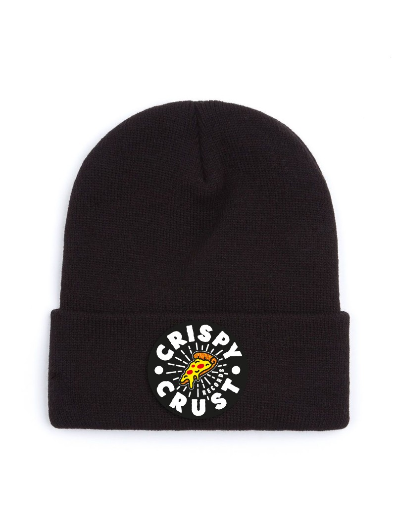 Crispy Crust Records Crispy Crust Records Beanie Beanie, schwarz