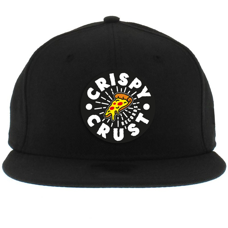 Crispy Crust Records Logo Snapback Cap One Size Fits All