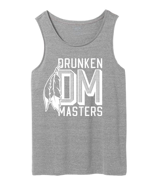 Drunken Masters Feather Tanktop, grau
