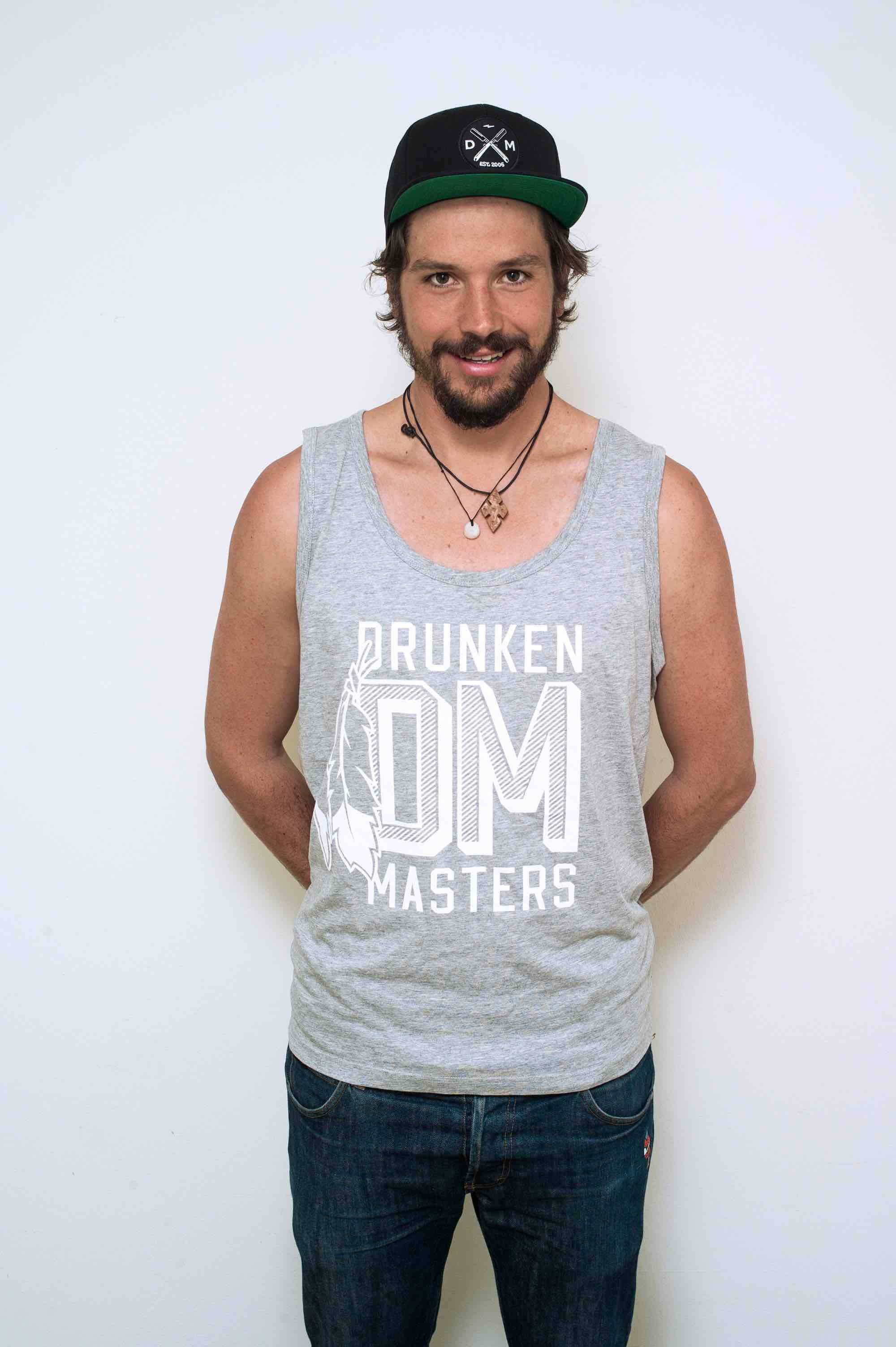 Drunken Masters Feather Tanktop grau