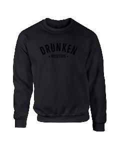 Drunken Masters Letters. schwarz auf schwarz Sweater