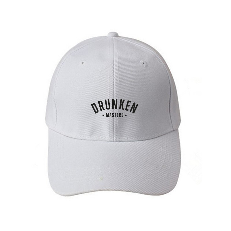 Drunken Masters Logo Low Profile Cap, weiß