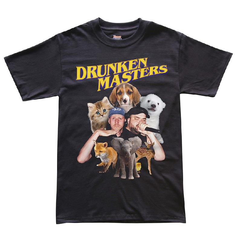 Drunken Masters Puppy T-Shirt, Black