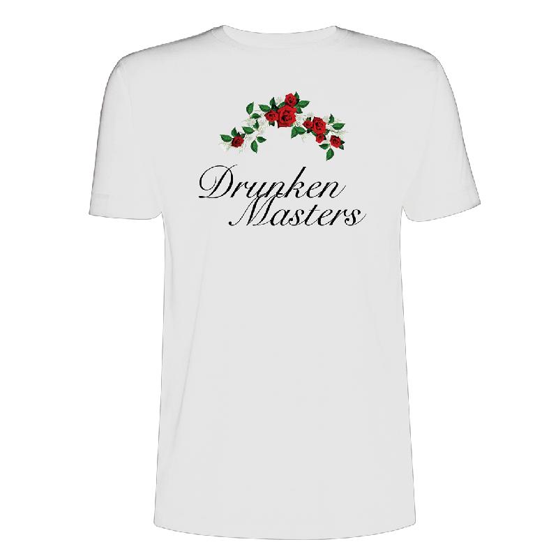 Drunken Masters Rosen T-Shirt, Weiss