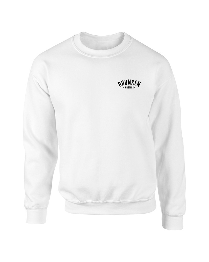 Drunken Masters Stick Letters Sweater, weiß