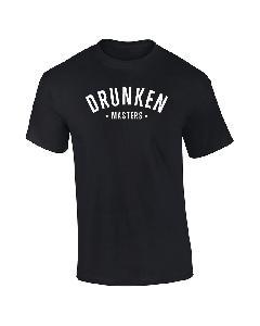 Drunken Masters Letters T-Shirt schwarz