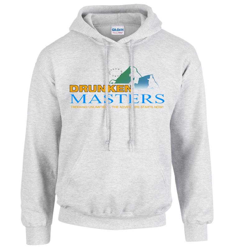 Drunken Masters Trekking Hoodie, Grey