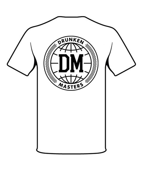 Drunken Masters World Backprint T-Shirt weiß
