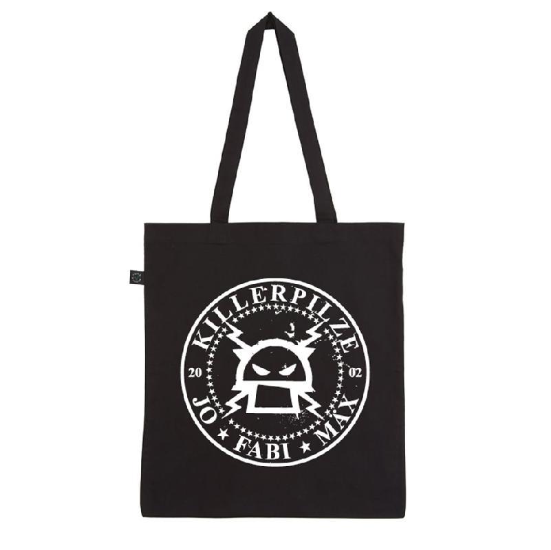 Killerpilze Jutebeutel Kreislogo Bag, Schwarz