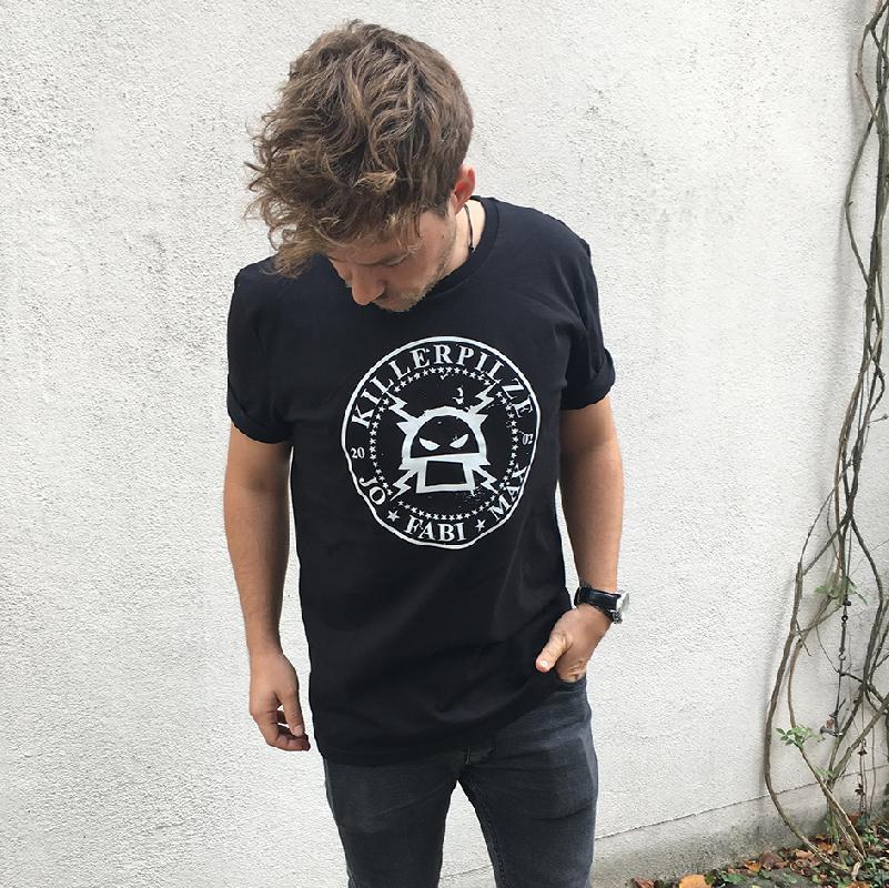 Killerpilze Kreislogo T-Shirt, Schwarz