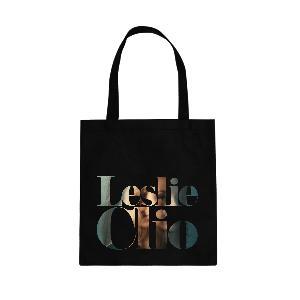 Leslie Clio Face Tote Bag Bag Schwarz