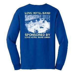 Love Hotel Band Herz Longsleeve Longsleeve Blau