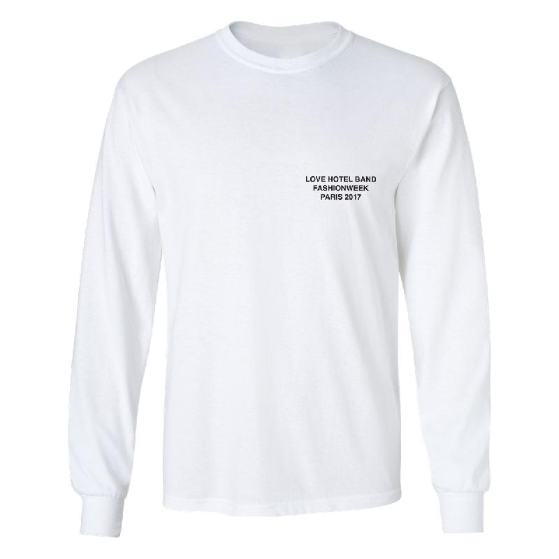 Love Hotel Band Paris Longsleeve - Limited Edition Longsleeve, Weiss