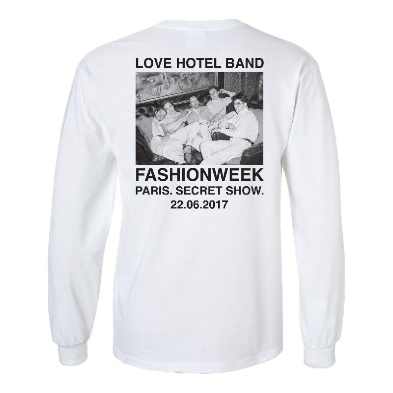 Love Hotel Band Paris Longsleeve - Limited Edition Longsleeve Weiss
