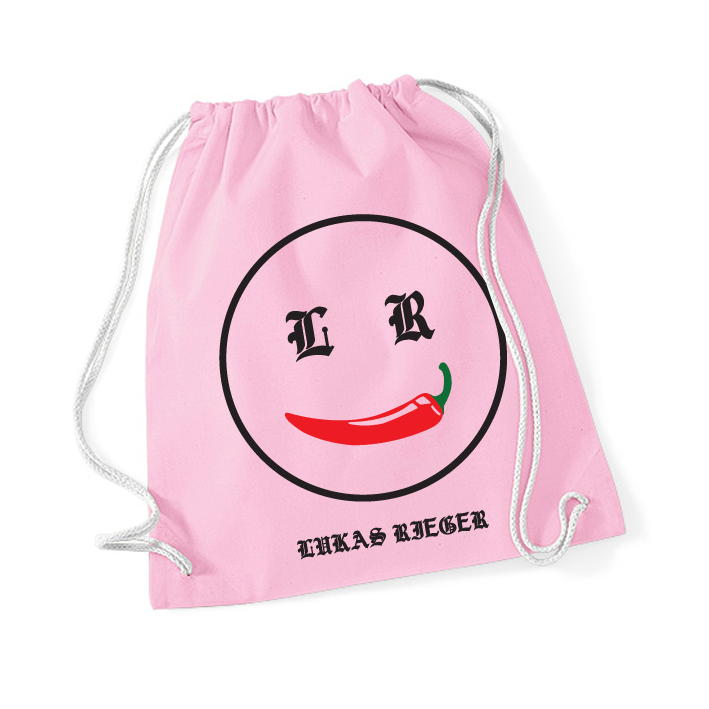 Lukas Rieger Chili Smiley Gymbag, rosa