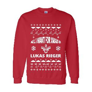 Lukas Rieger Christmas Sweater Rot