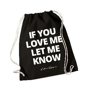 Lukas Rieger If You Love Me Gymbag Schwarz