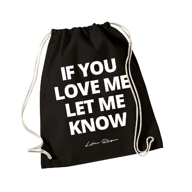 Lukas Rieger If You Love Me Gymbag, Schwarz