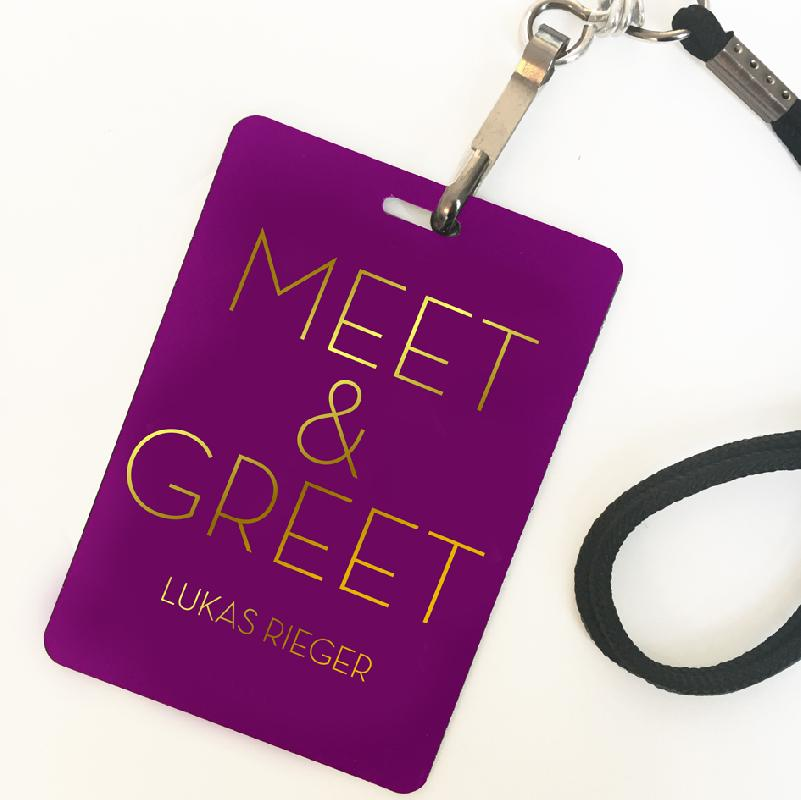 Lukas Rieger MEET & GREET UPGRADE MANNHEIM Ticket