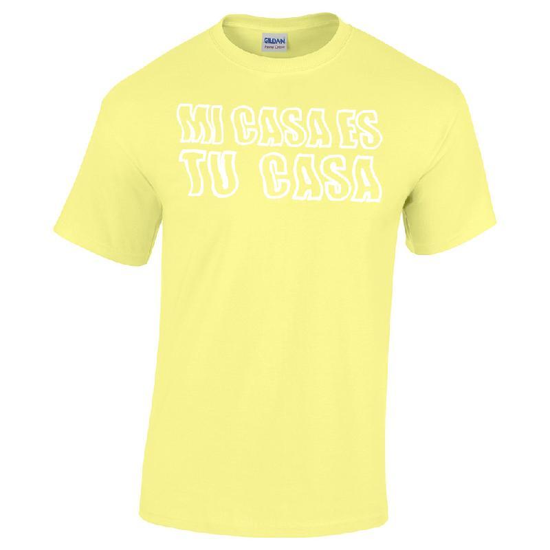 Lukas Rieger MI CASA ES TU CASA T-Shirt, Gelb