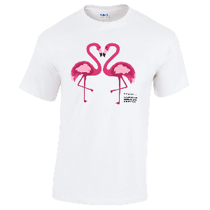 Lukas Rieger Shirt Flamingo Summer 2018 LTD. EDITION T-Shirt Weiss