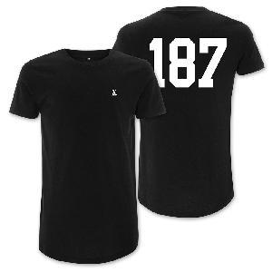 LX 187 T-Shirt (Long Shape) schwarz