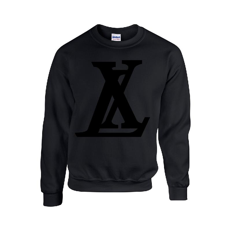 LX Logo Sweater Black on Black Sweater, Schwarz