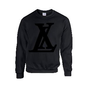 LX Logo Sweater Black on Black Sweater Schwarz