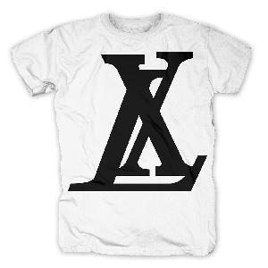 LX Logo T-Shirt weiß