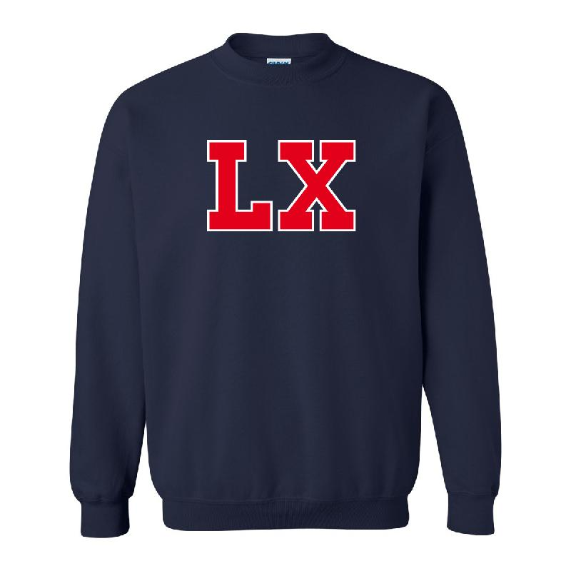 LX LX Frottee Logo Sweater Sweater, Navy