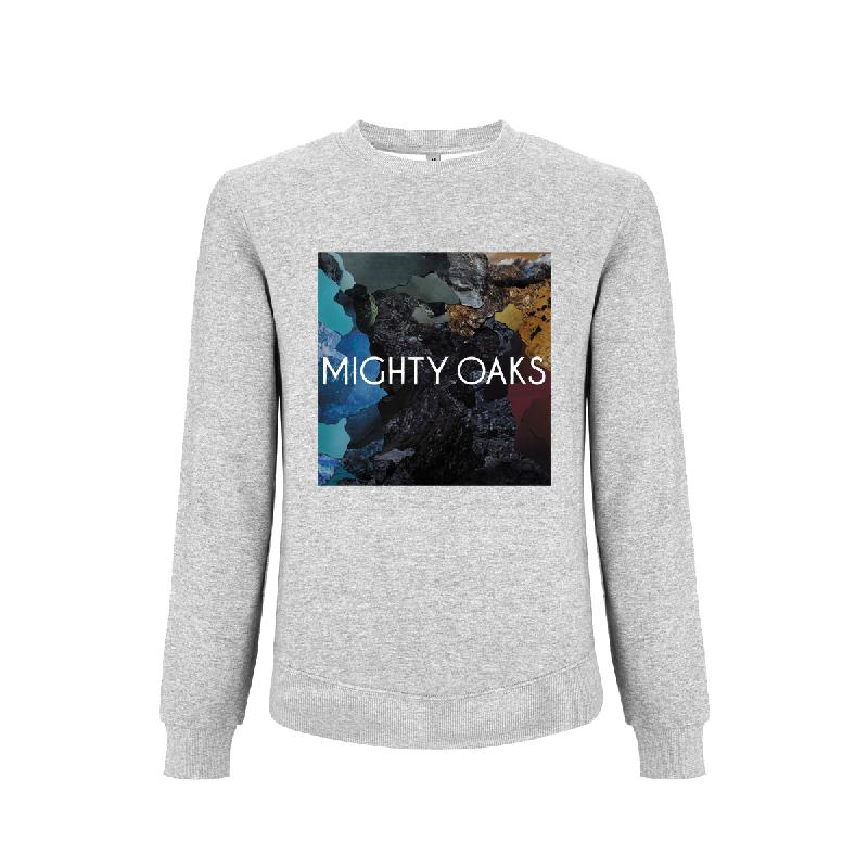 Mighty Oaks Sweater Paint Sweater, Grey