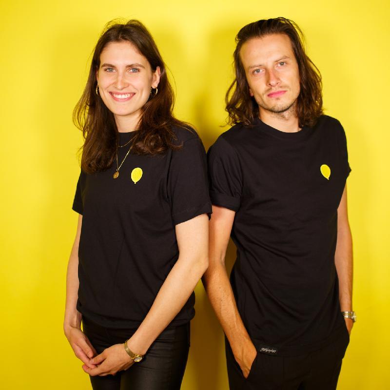 Mit Vergnügen Mit Vergnügen Ballon T-Shirt Schwarz