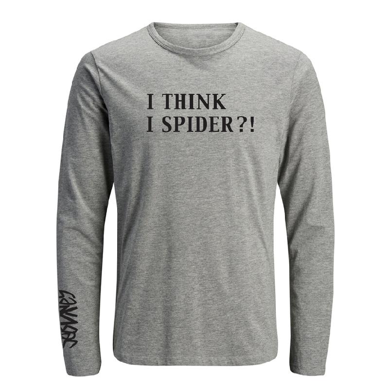 Sebvines I Think I Spider Longsleeve grau