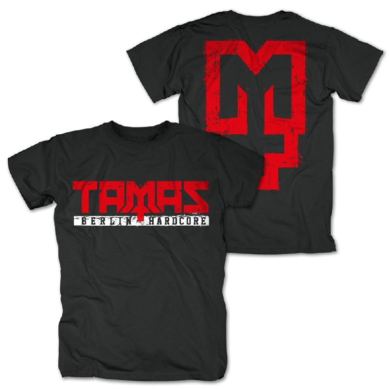 Tamas Logo T-Shirt, schwarz