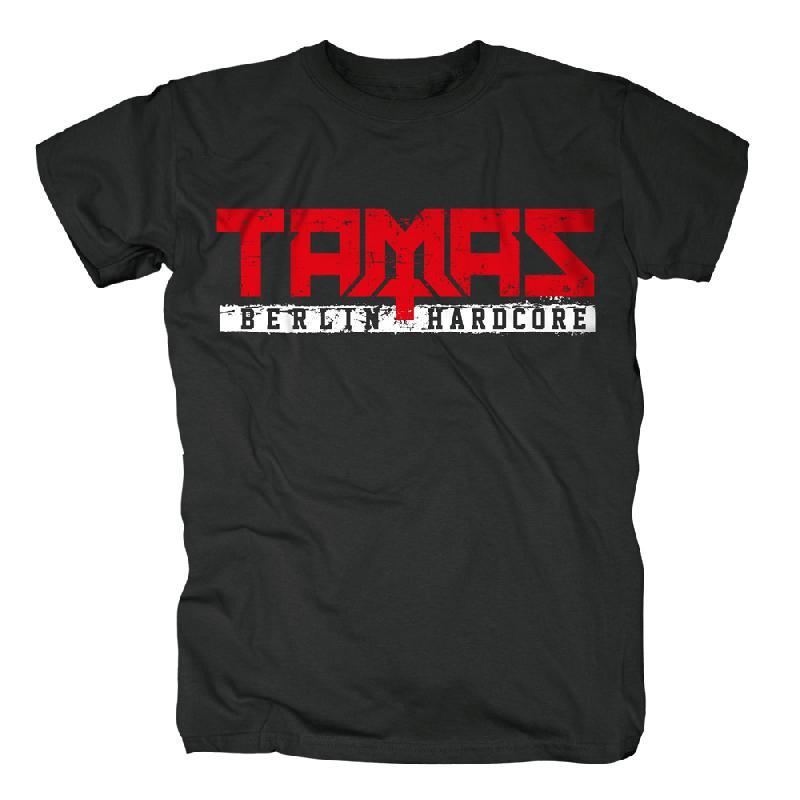 Tamas Logo T-Shirt schwarz