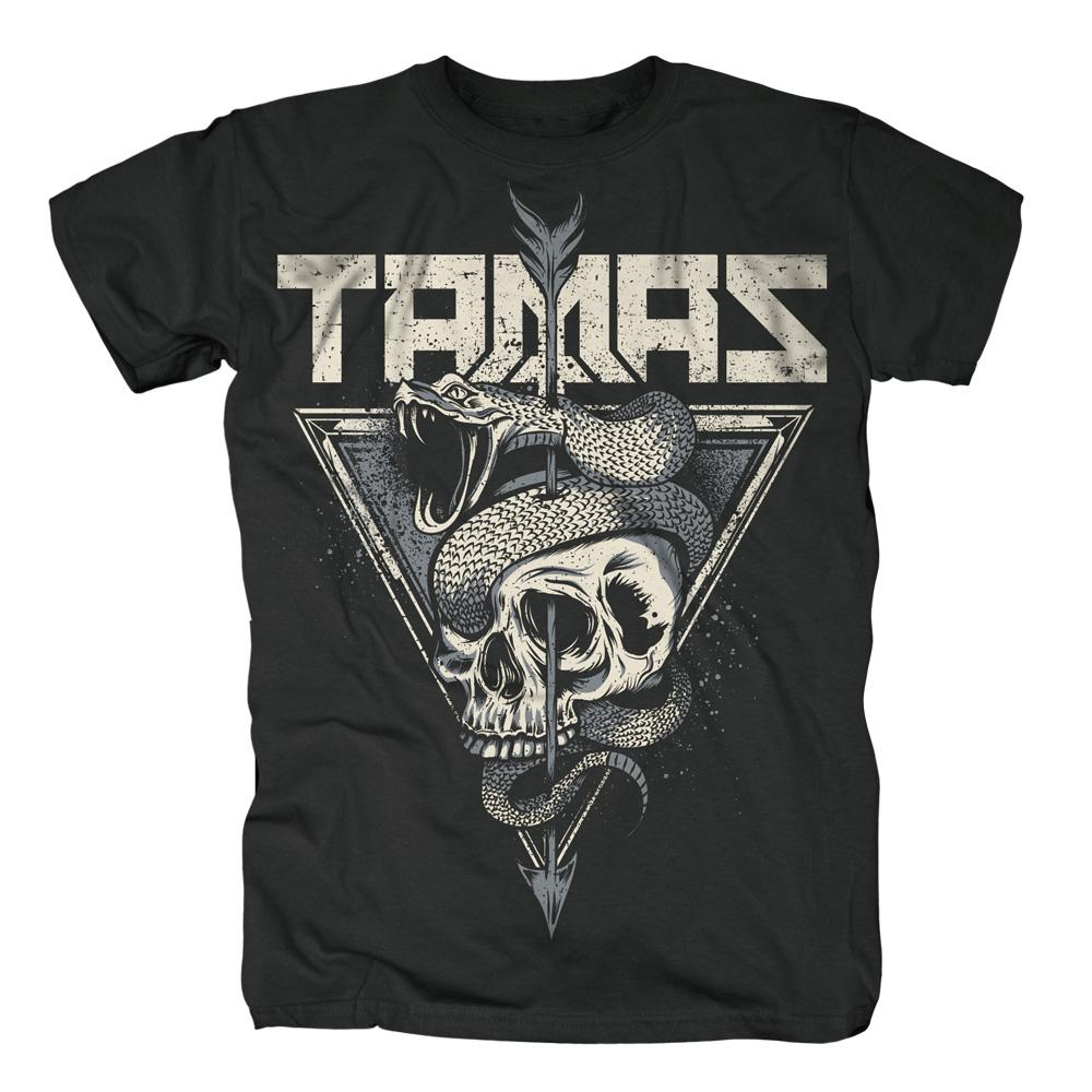 Tamas Skull T-Shirt, schwarz